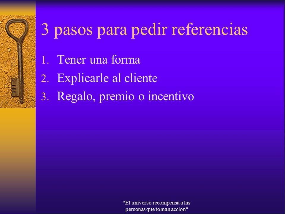 3 pasos para pedir referencias