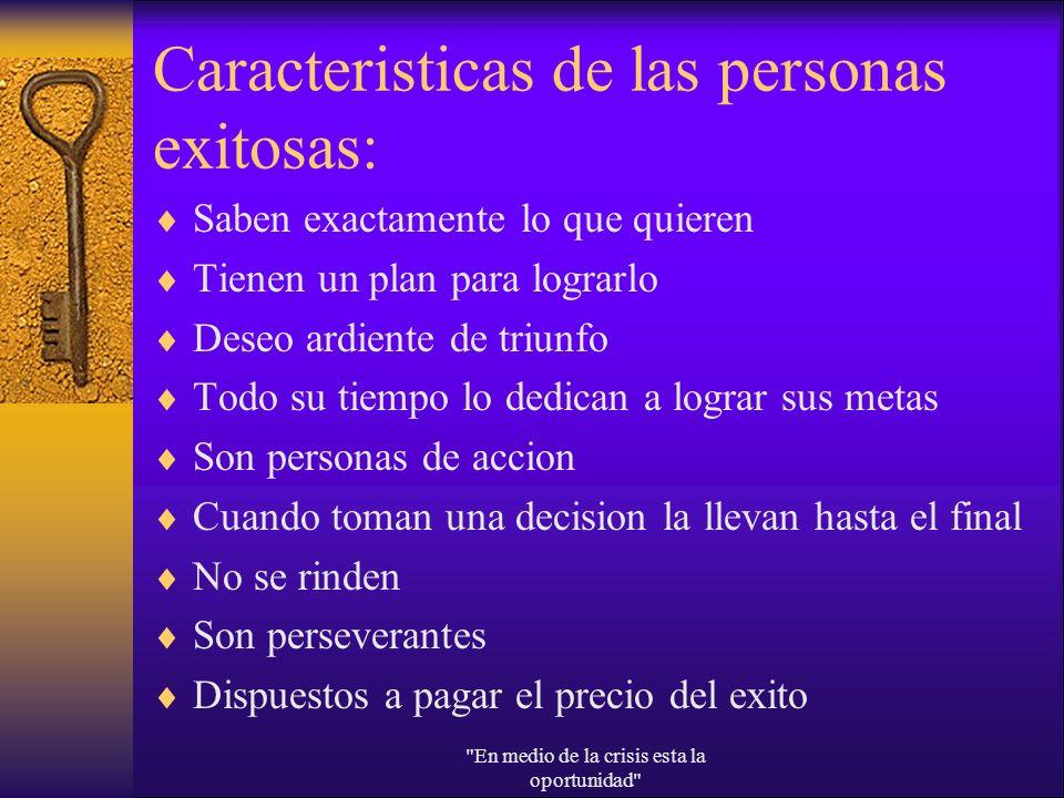 Caracteristicas de las personas exitosas: