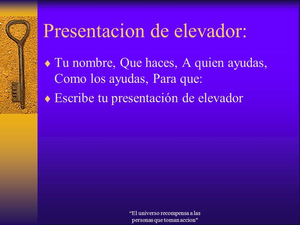 Presentacion de elevador: