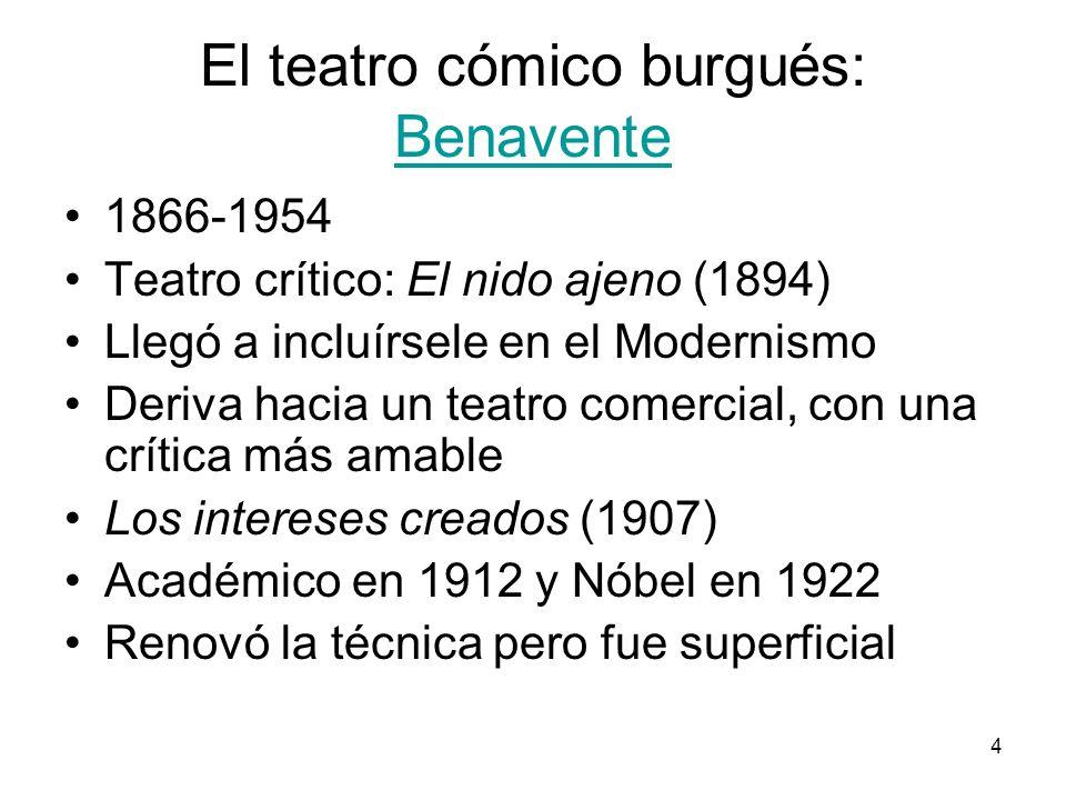 El teatro cómico burgués: Benavente