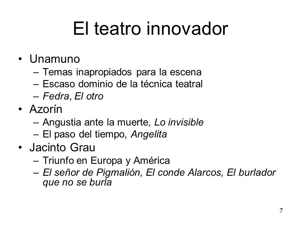 El teatro innovador Unamuno Azorín Jacinto Grau