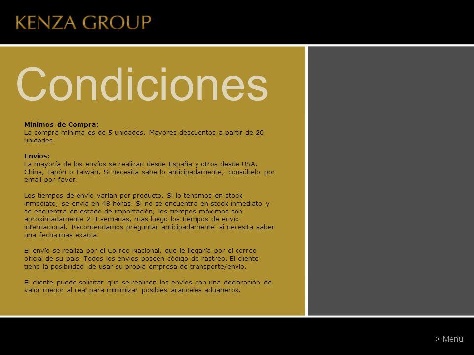 Condiciones > Menú Mínimos de Compra: