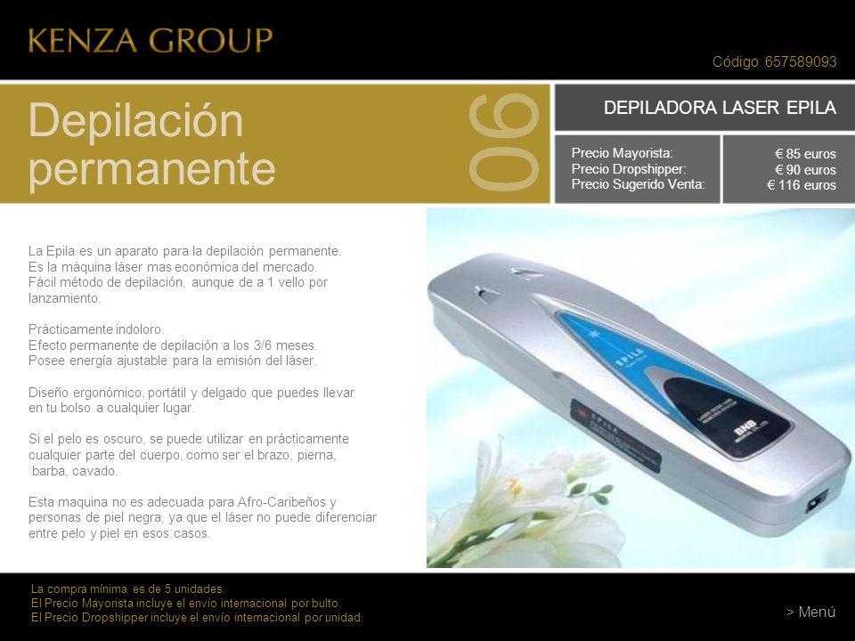 06 Depilación permanente DEPILADORA LASER EPILA Código 657589093