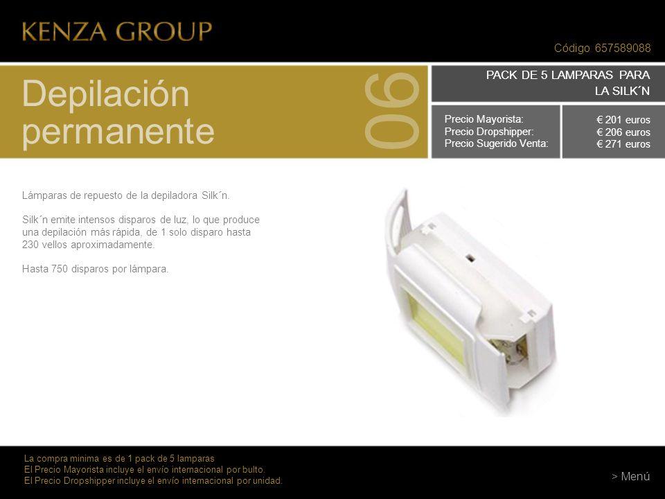 06 Depilación permanente PACK DE 5 LAMPARAS PARA LA SILK´N