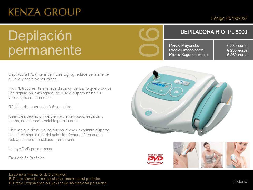 06 Depilación permanente DEPILADORA RIO IPL 8000 Código 657589097