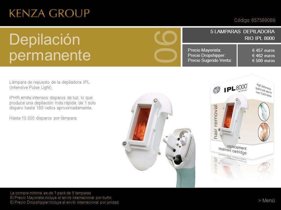 06 Depilación permanente 5 LAMPARAS DEPILADORA RIO IPL 8000