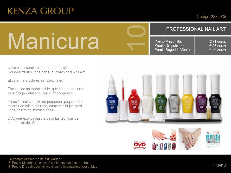 10 Manicura PROFESSIONAL NAIL ART Código 2389035 > Menú