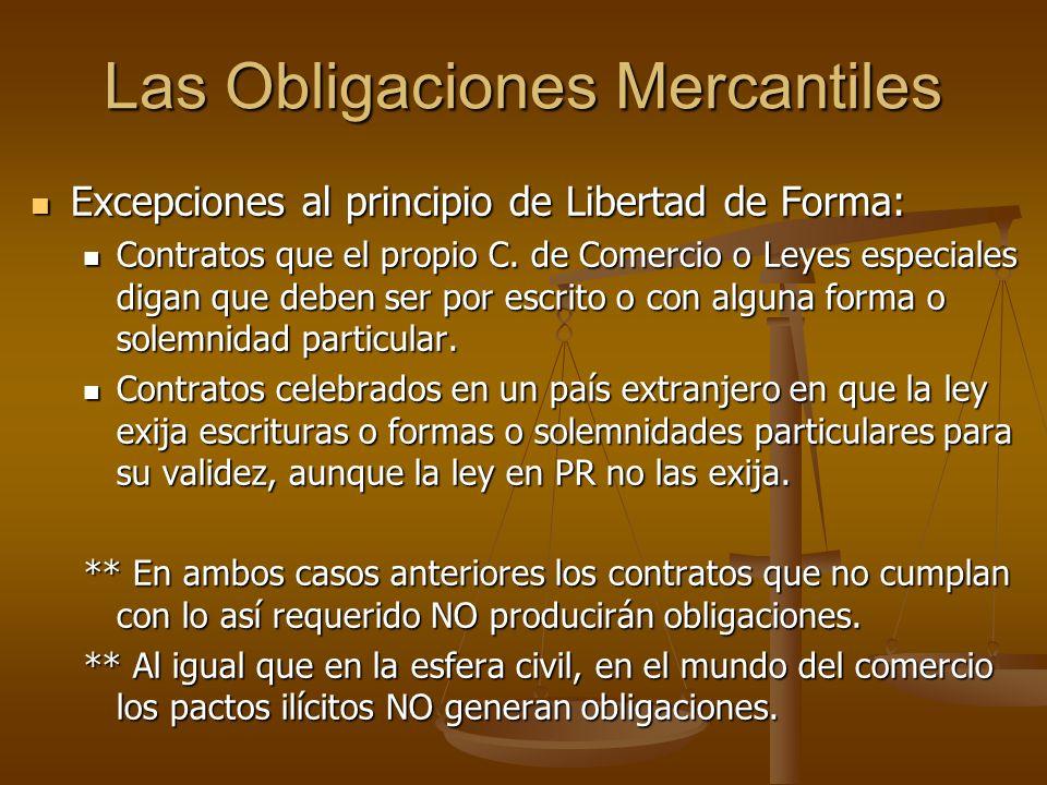 Las Obligaciones Mercantiles