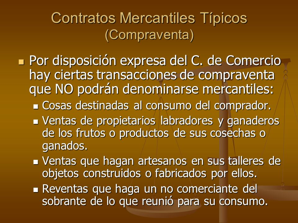 Contratos Mercantiles Típicos (Compraventa)