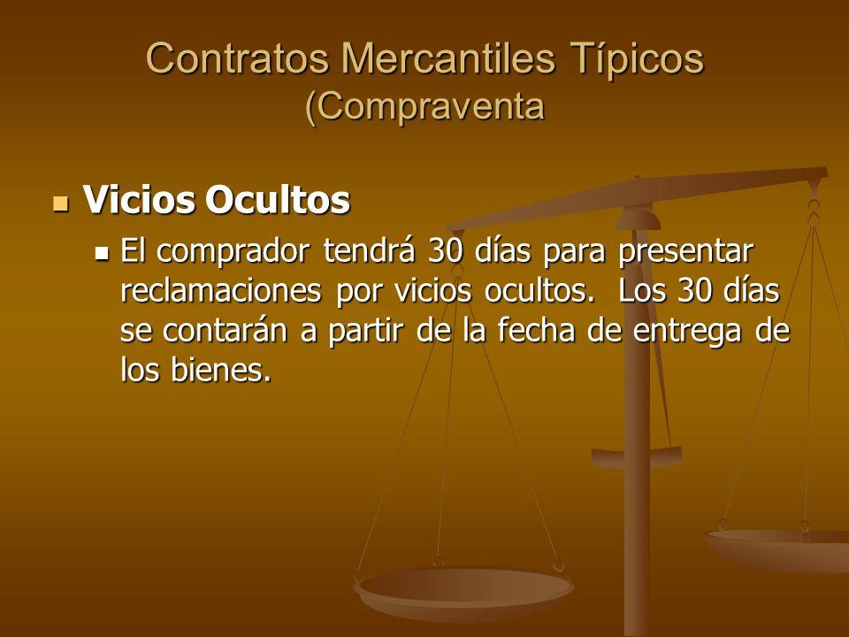 Contratos Mercantiles Típicos (Compraventa