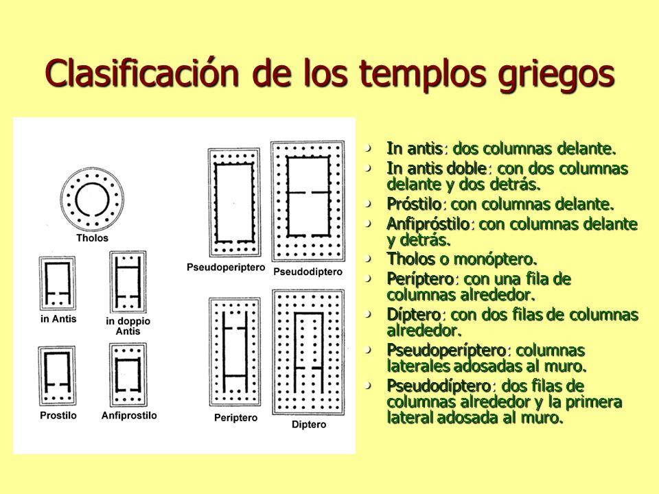 Clasificación de los templos griegos