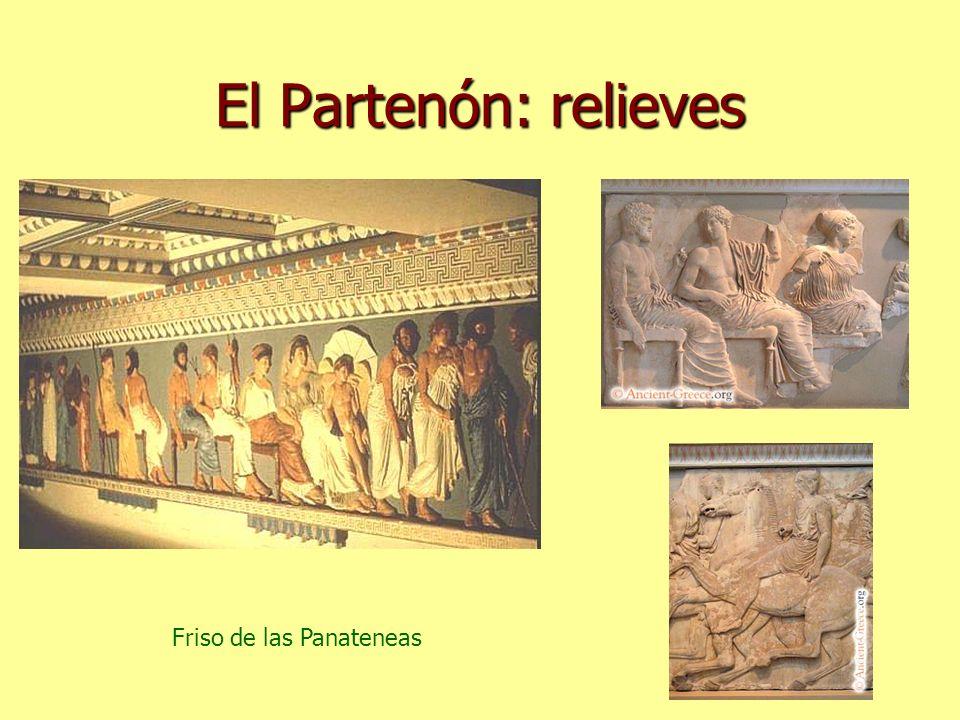 El Partenón: relieves Friso de las Panateneas