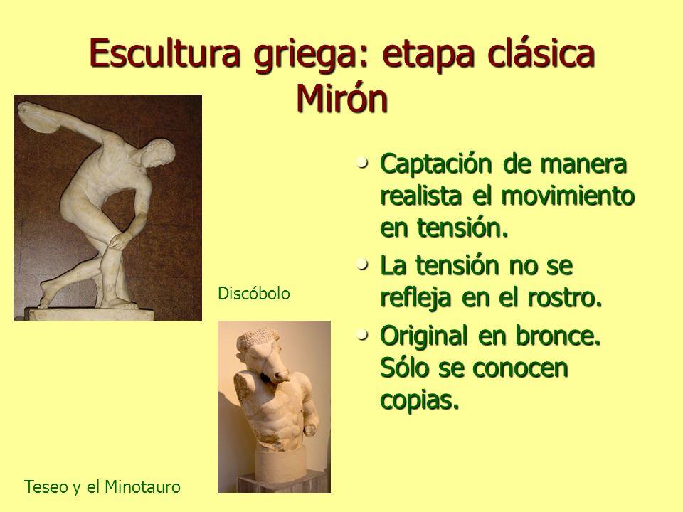 Escultura griega: etapa clásica Mirón