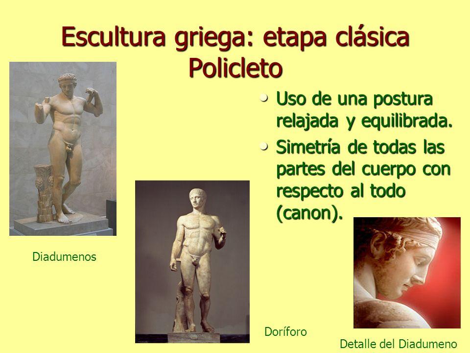 Escultura griega: etapa clásica Policleto