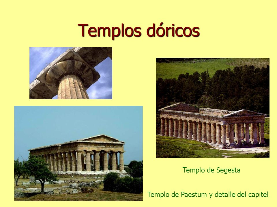 Templos dóricos Templo de Segesta