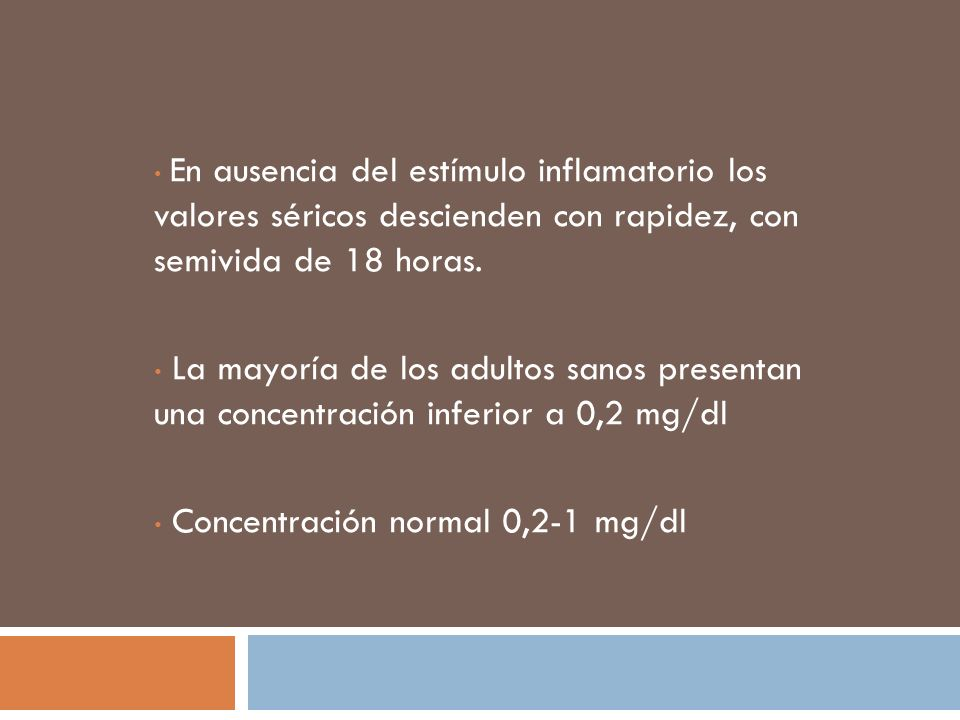 Concentración normal 0,2-1 mg/dl