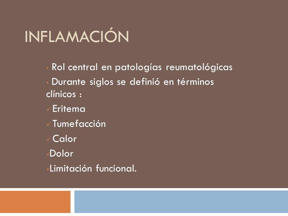 INFLAMACIÓN Rol central en patologías reumatológicas