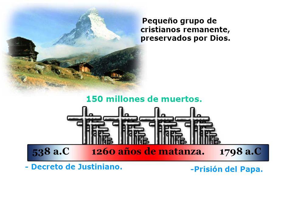 538 a.C 1260 años de matanza. 1798 a.C 150 millones de muertos.