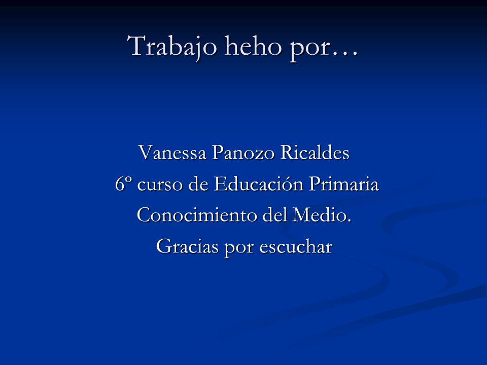 Trabajo heho por… Vanessa Panozo Ricaldes