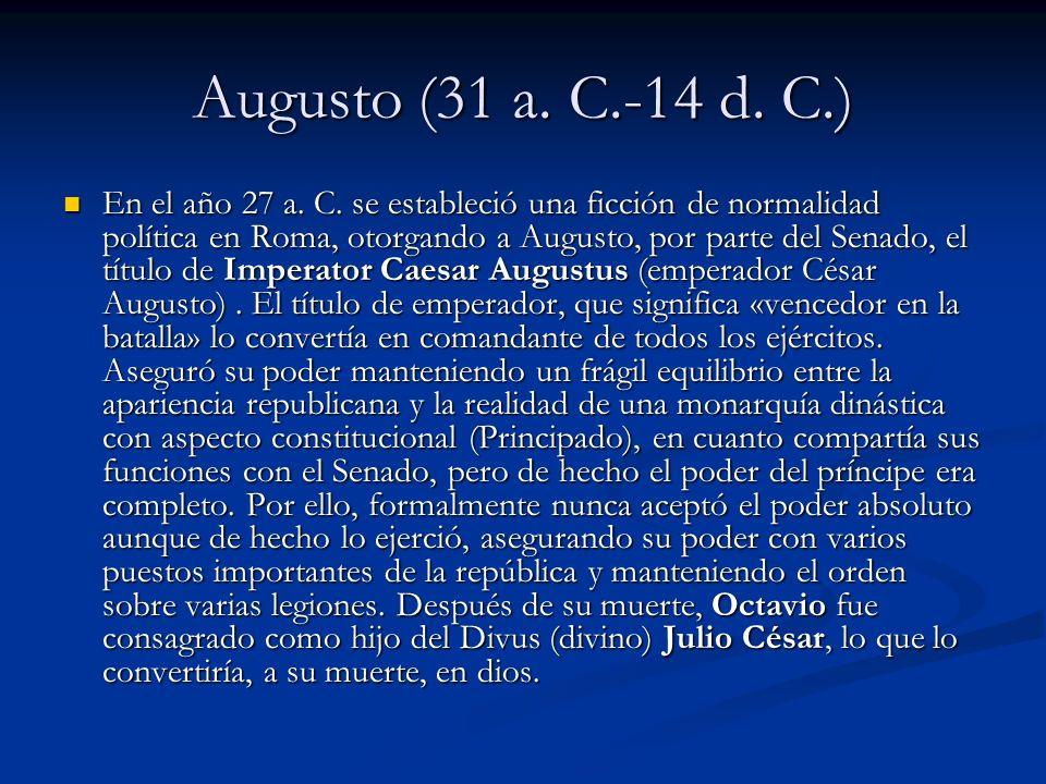 Augusto (31 a. C.-14 d. C.)