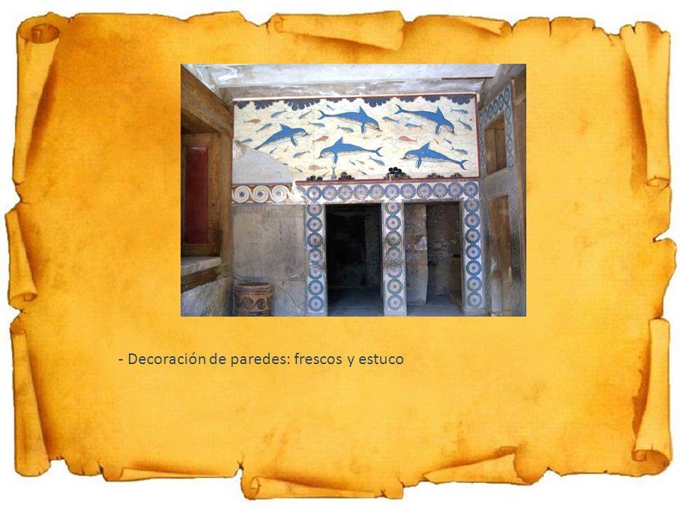 - Decoración de paredes: frescos y estuco