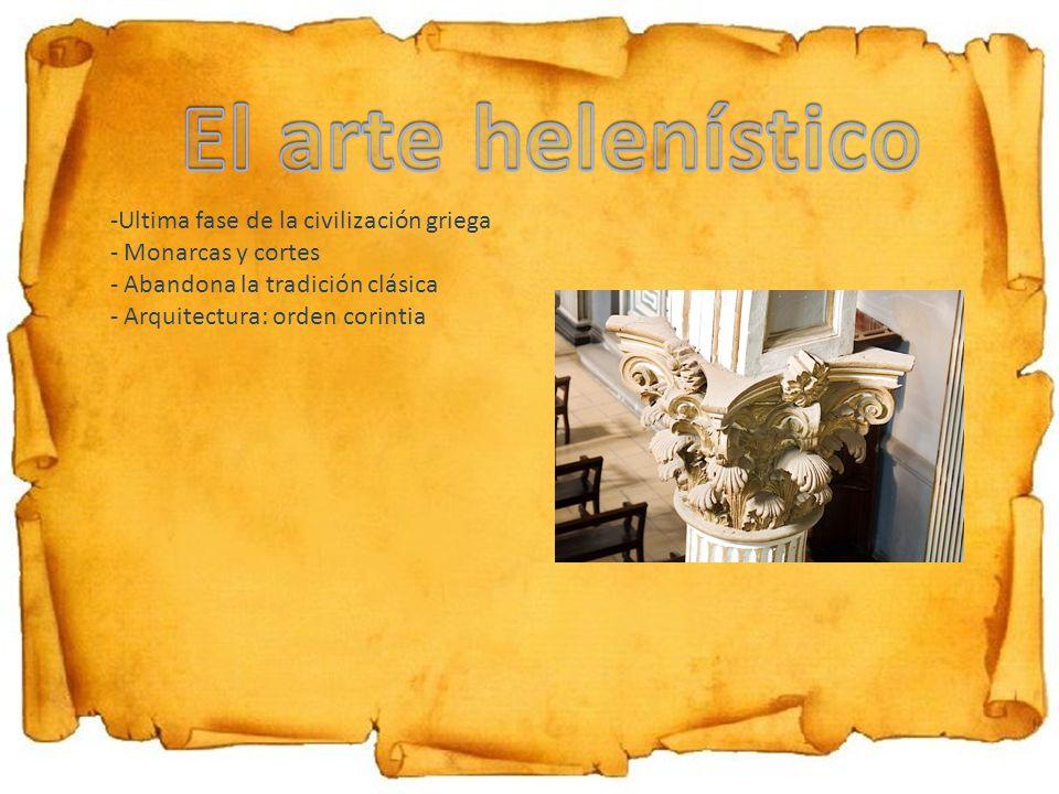 El arte helenístico Ultima fase de la civilización griega