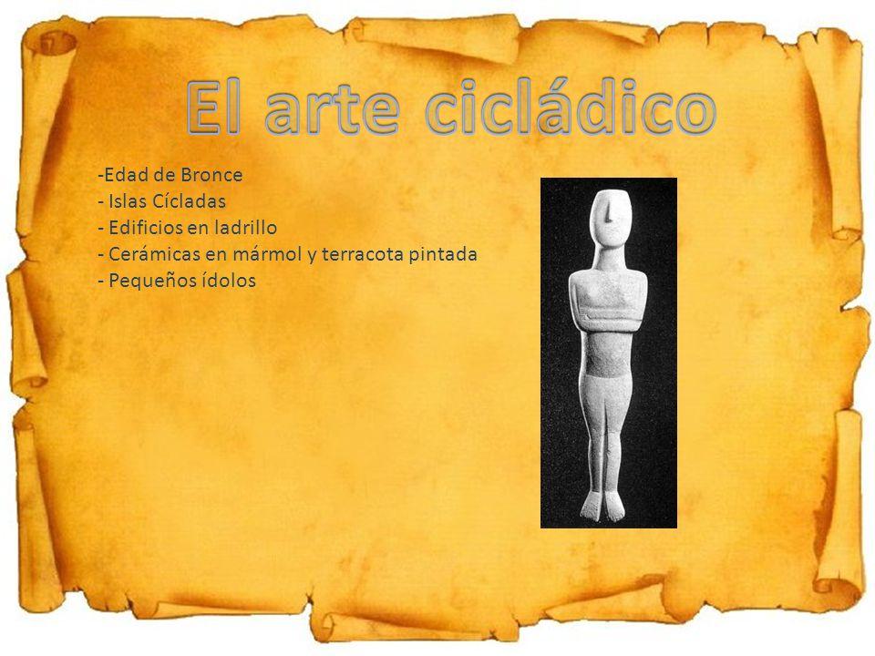 El arte cicládico Edad de Bronce Islas Cícladas Edificios en ladrillo