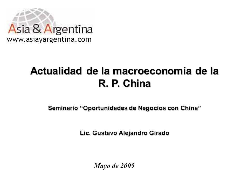 Actualidad de la macroeconomía de la R. P. China