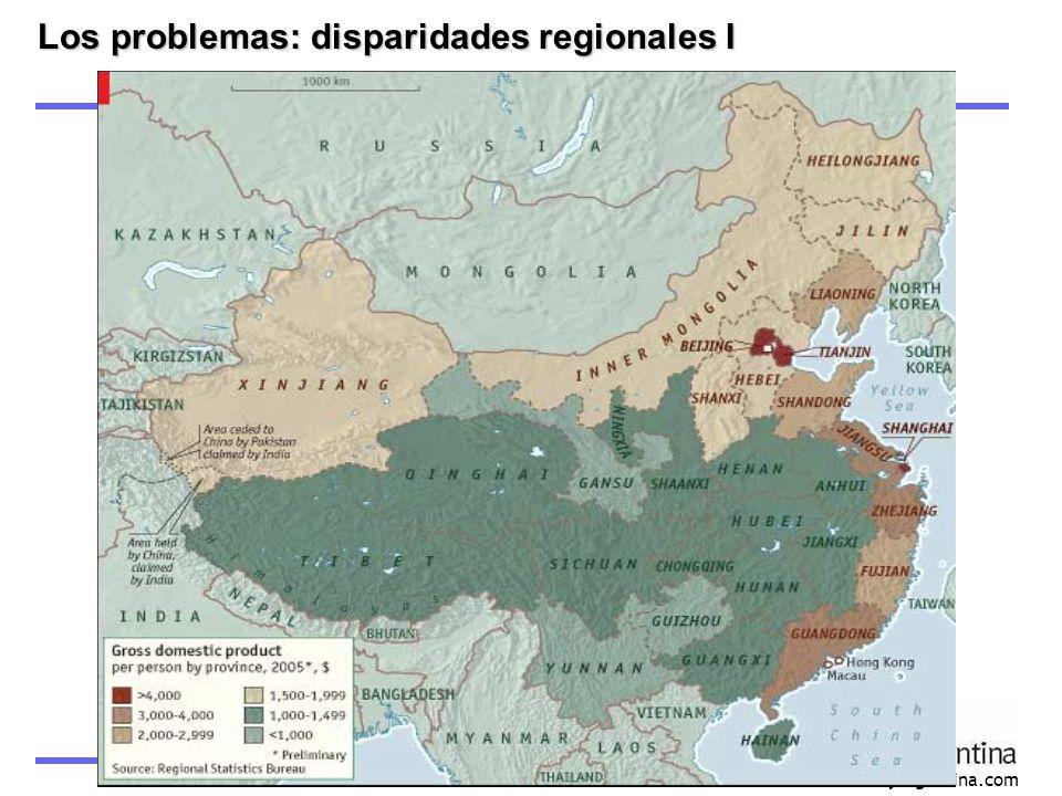 Los problemas: disparidades regionales I