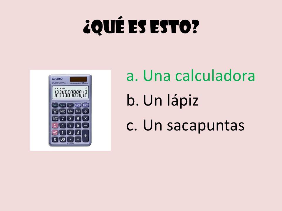 ¿Qué es esto Una calculadora Un lápiz Un sacapuntas