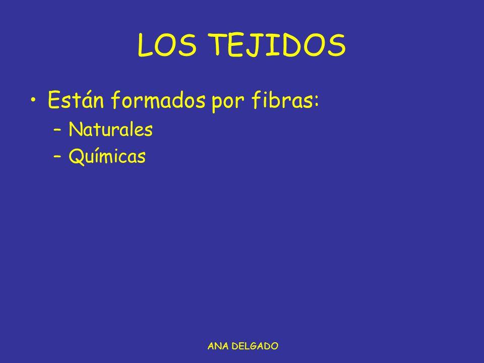 LOS TEJIDOS Están formados por fibras: Naturales Químicas ANA DELGADO
