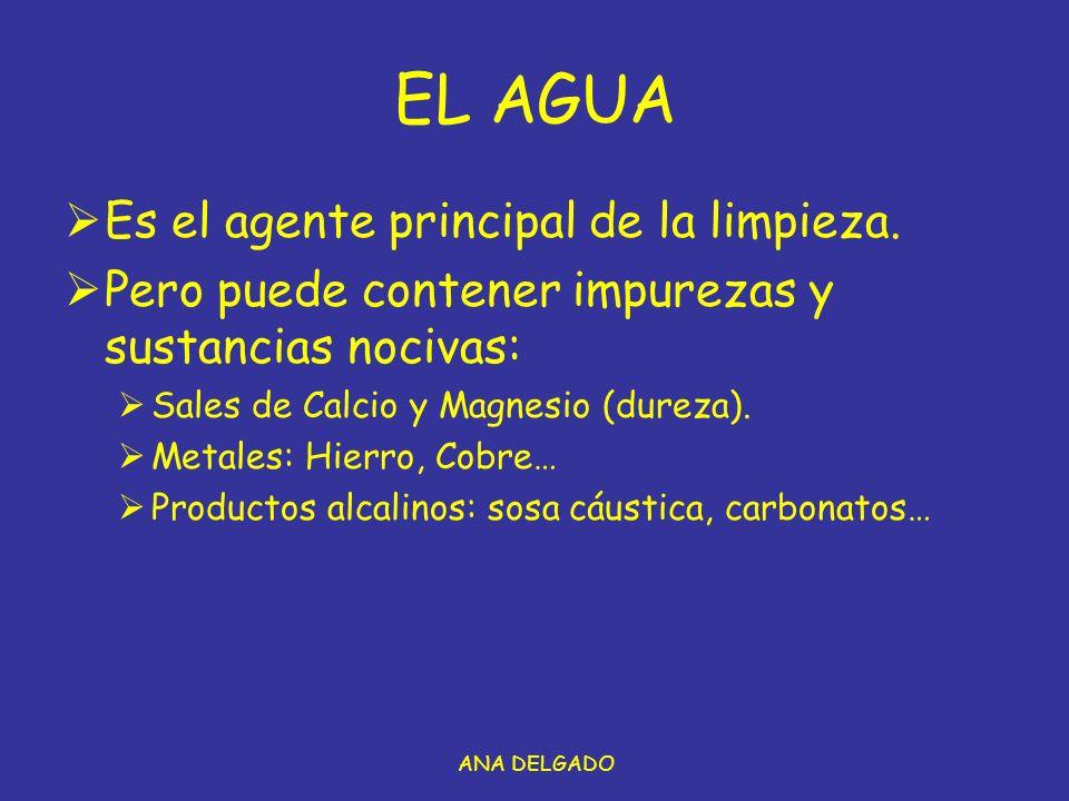 EL AGUA Es el agente principal de la limpieza.