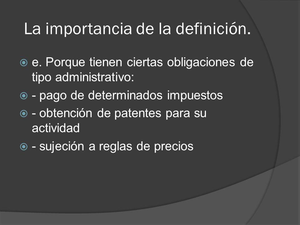 La importancia de la definición.