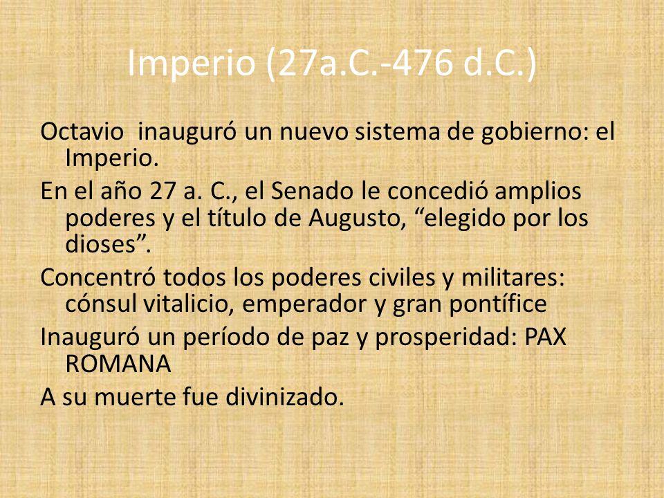 Imperio (27a.C.-476 d.C.)