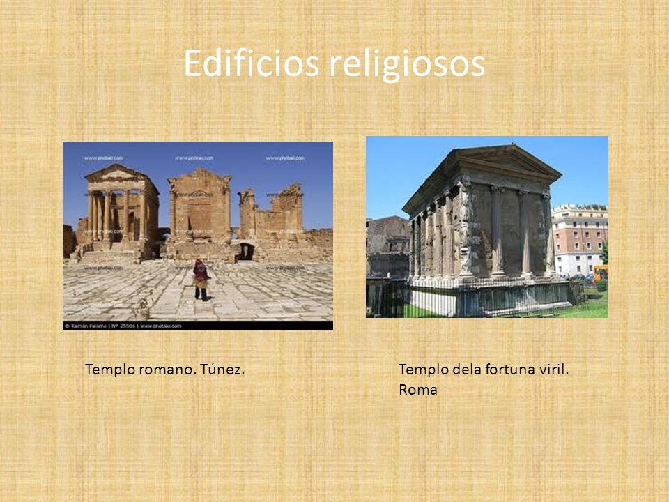 Edificios religiosos Templo romano. Túnez. Templo dela fortuna viril.