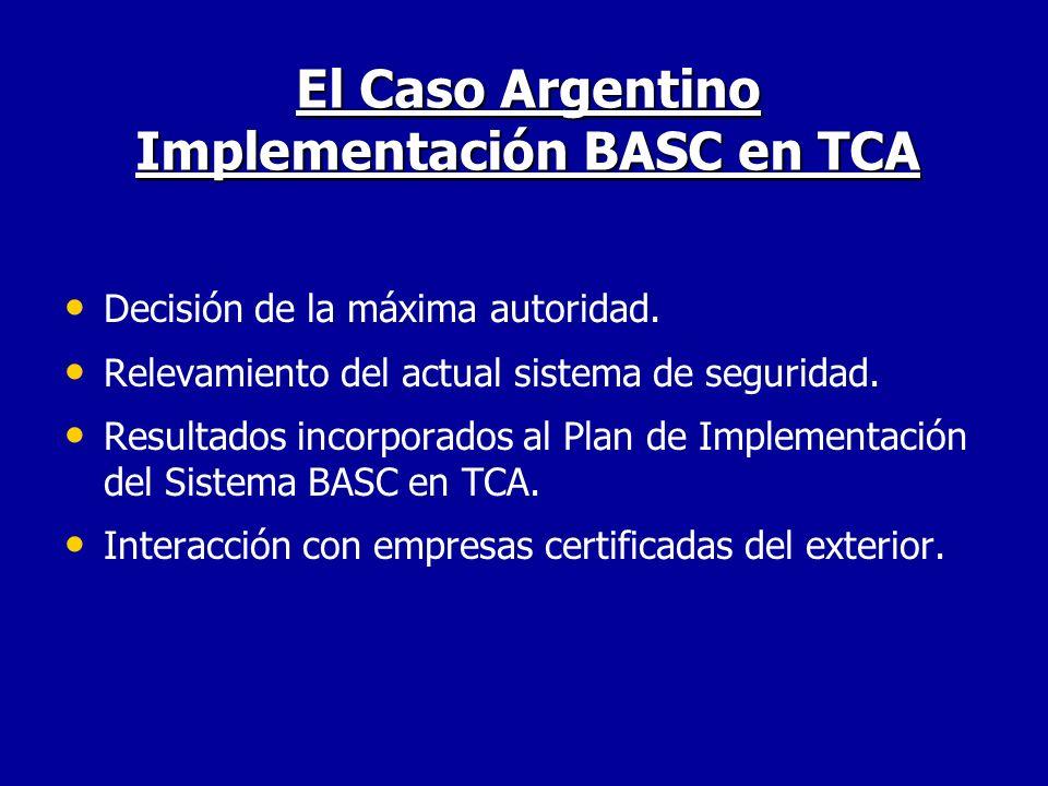 El Caso Argentino Implementación BASC en TCA