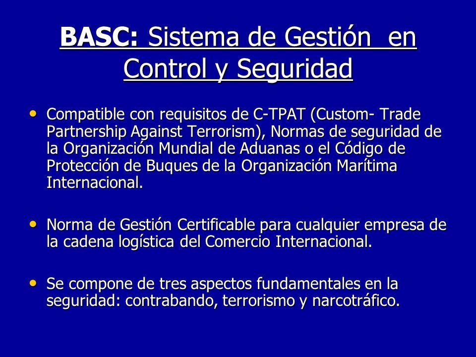 BASC: Sistema de Gestión en Control y Seguridad