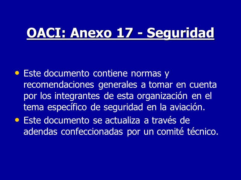 OACI: Anexo 17 - Seguridad
