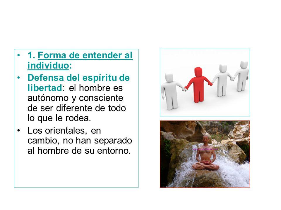 1. Forma de entender al individuo: