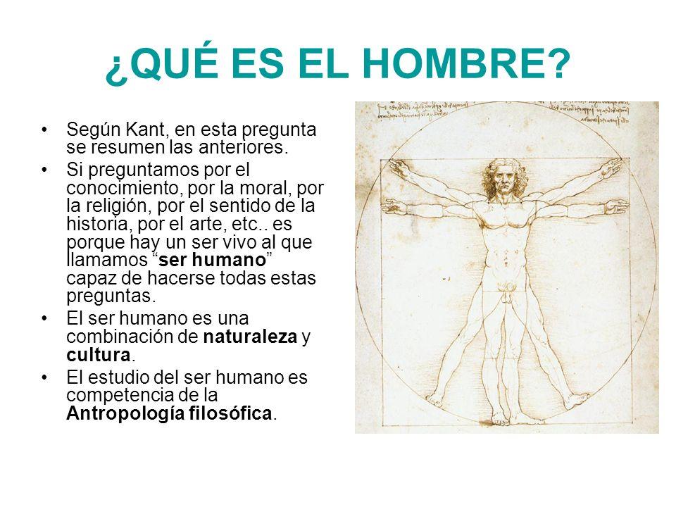 ¿QUÉ ES EL HOMBRE Según Kant, en esta pregunta se resumen las anteriores.