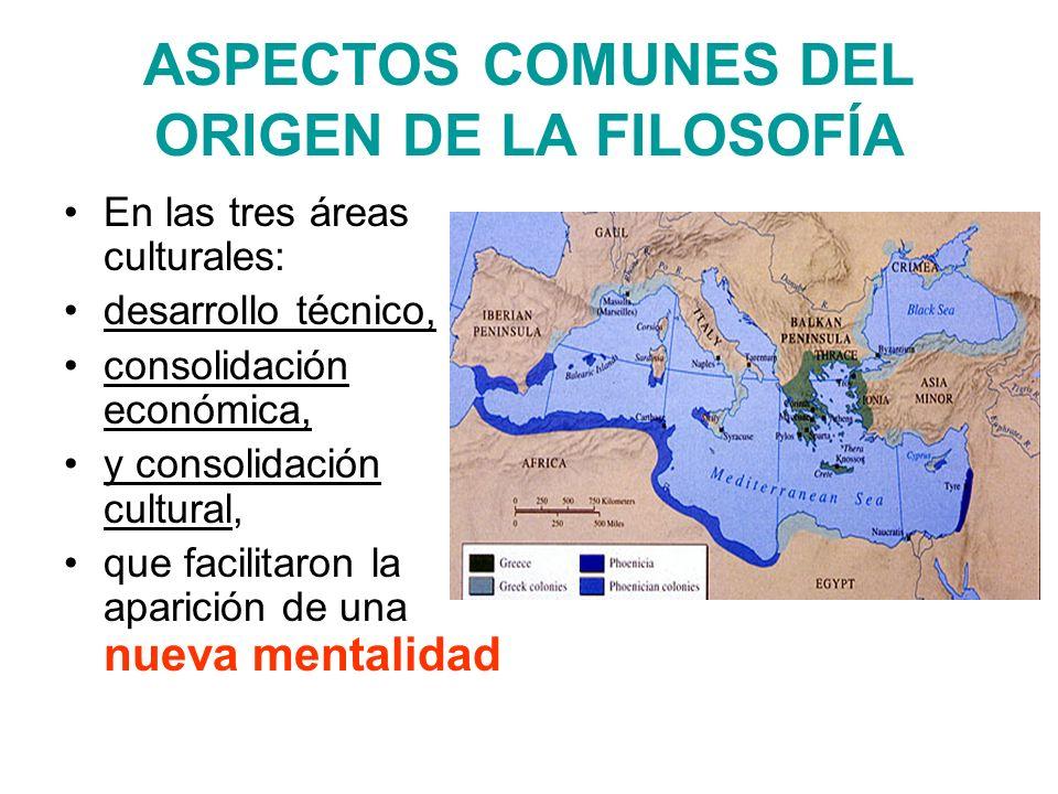 ASPECTOS COMUNES DEL ORIGEN DE LA FILOSOFÍA