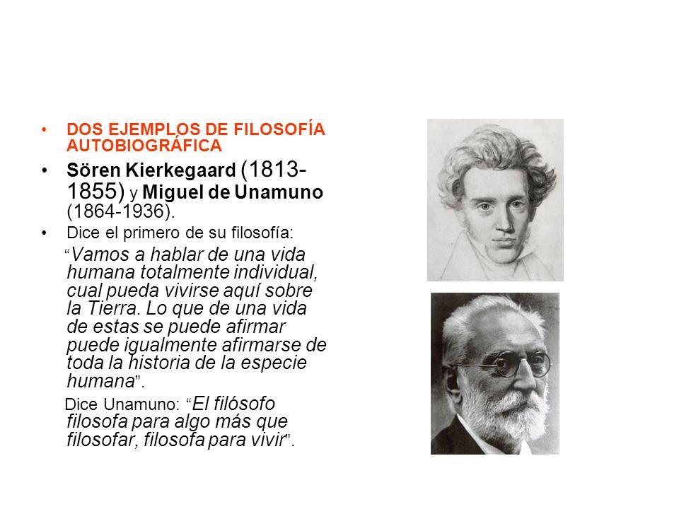 Sören Kierkegaard (1813-1855) y Miguel de Unamuno (1864-1936).