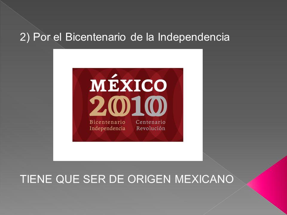 2) Por el Bicentenario de la Independencia