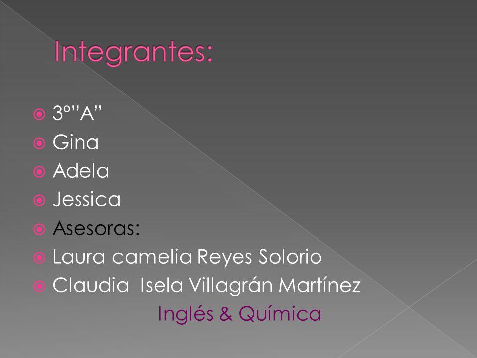 Integrantes: 3º A Gina Adela Jessica Asesoras: