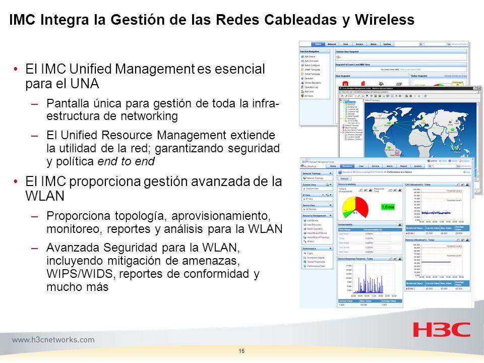 IMC Integra la Gestión de las Redes Cableadas y Wireless