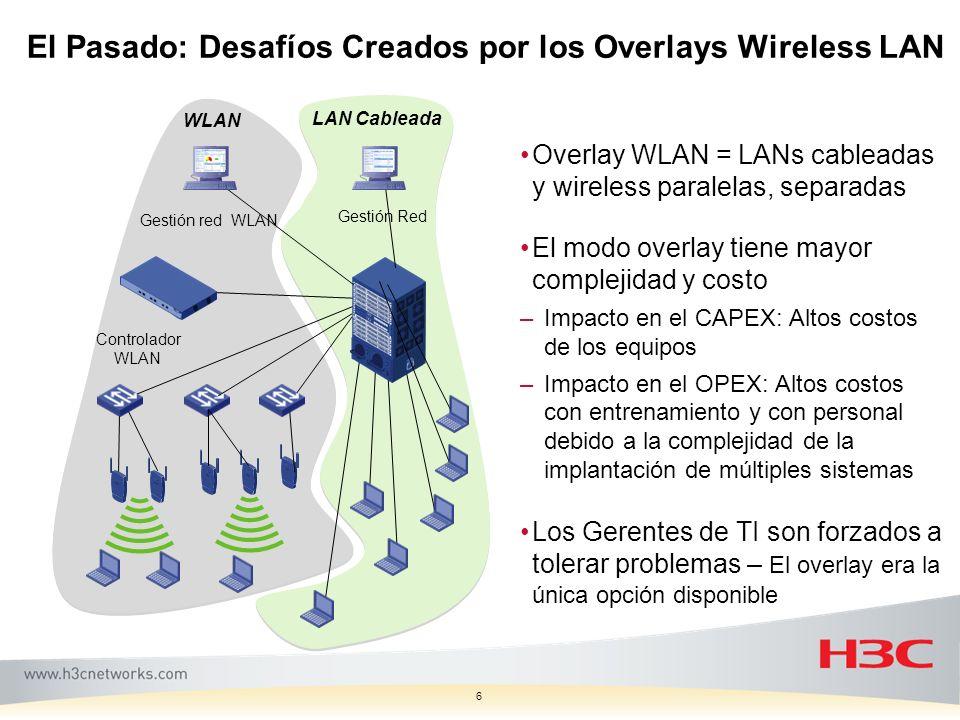 El Pasado: Desafíos Creados por los Overlays Wireless LAN