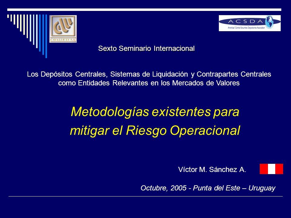 Metodologías existentes para mitigar el Riesgo Operacional