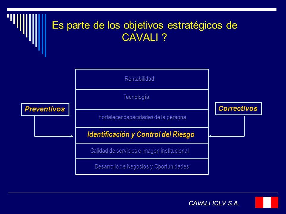 Es parte de los objetivos estratégicos de CAVALI