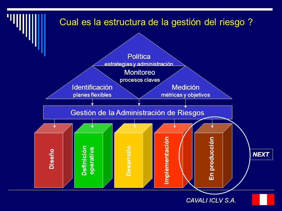 Cual es la estructura de la gestión del riesgo
