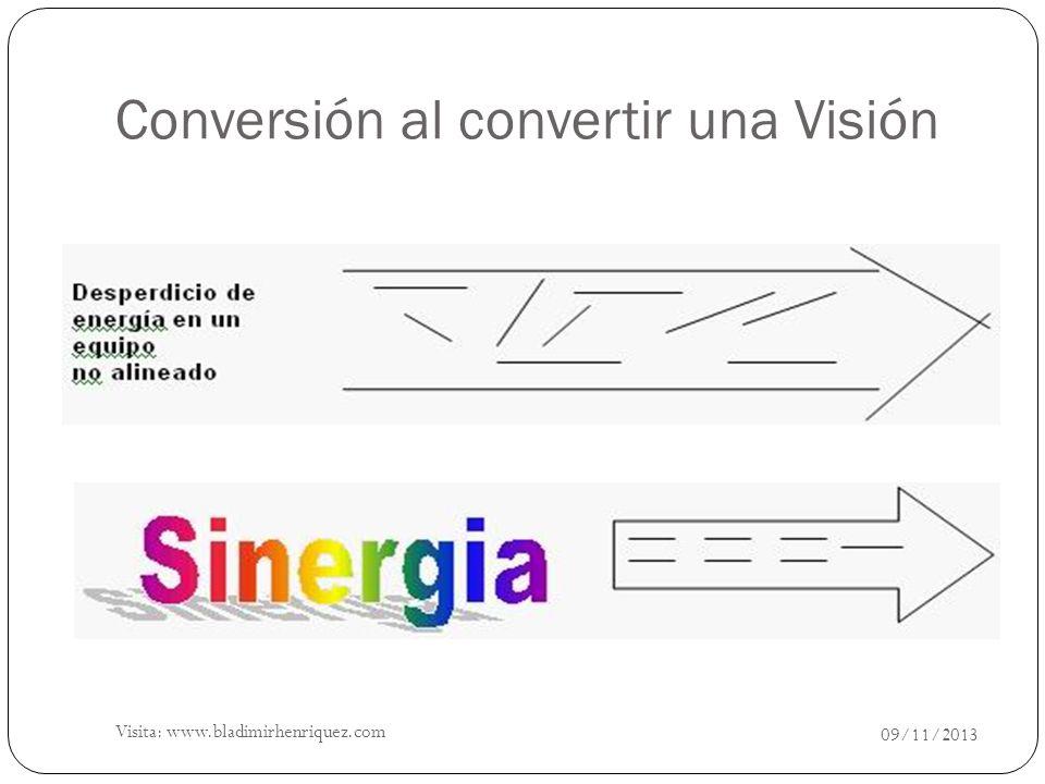 Conversión al convertir una Visión